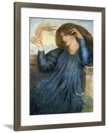 La Donna della Flamma-Dante Gabriel Rossetti-Framed Giclee Print