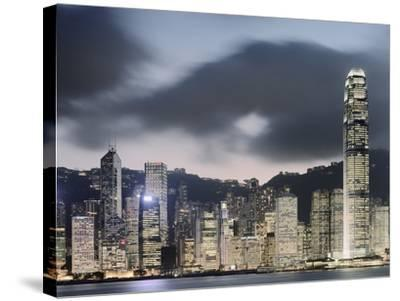 Hong Kong Skyline and financial district at dusk-Martin Puddy-Stretched Canvas Print