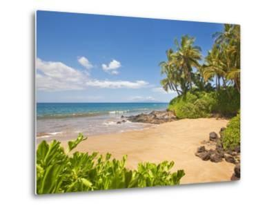 Secluded sandy beach on Maui-Ron Dahlquist-Metal Print