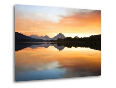 Sunset over the Snake River at Oxbow Bend-Frank Lukasseck-Metal Print
