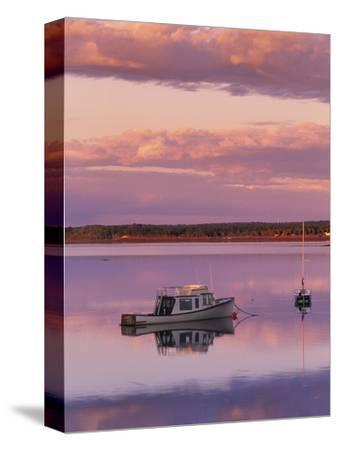 Sunset West River Causeway, West River, Prince Edward Island, Canada-Barrett & Mackay-Stretched Canvas Print