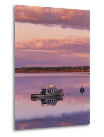 Sunset West River Causeway, West River, Prince Edward Island, Canada-Barrett & Mackay-Metal Print