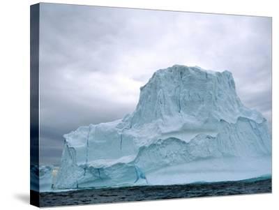 Iceberg, Witless Bay Ecological Reserve, Newfoundland, Canada-Barrett & Mackay-Stretched Canvas Print