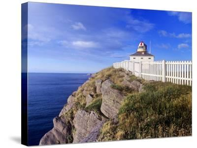 Lighthouse at Cape Spear National Historic Site, Newfoundland, Canada.-Barrett & Mackay-Stretched Canvas Print