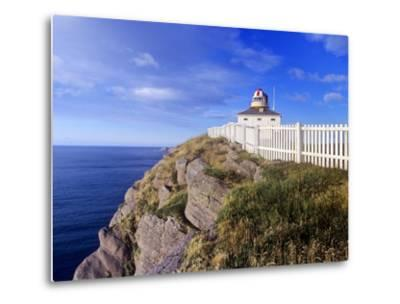 Lighthouse at Cape Spear National Historic Site, Newfoundland, Canada.-Barrett & Mackay-Metal Print