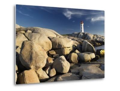 Peggy's Cove Lighthouse Nova Scotia, Canada.-Darwin Wiggett-Metal Print