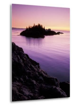 East Quoddy Lighthouse at Sunrise, Campobello Island, New Brunswick, Canada-Garry Black-Metal Print