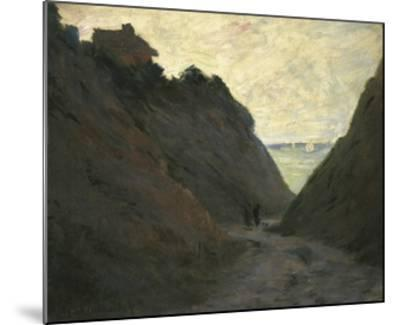 The Sunken Road in the Cliff at Varengeville-Claude Monet-Mounted Giclee Print