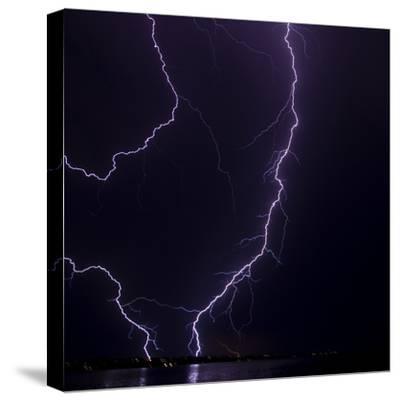 Lightning strike-Stuart Westmorland-Stretched Canvas Print