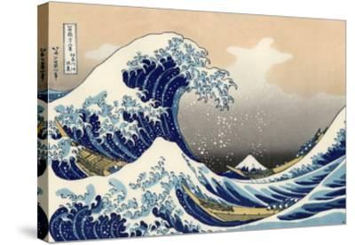 Under the Wave Off Kanagawa-Katsushika Hokusai-Stretched Canvas Print