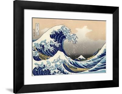 Under the Wave Off Kanagawa-Katsushika Hokusai-Framed Giclee Print