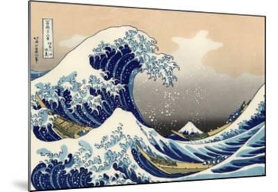 Under the Wave Off Kanagawa-Katsushika Hokusai-Mounted Giclee Print