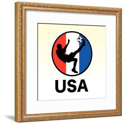 USA Soccer--Framed Giclee Print