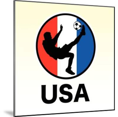 USA Soccer--Mounted Giclee Print