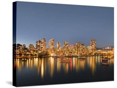Vancouver skyline-Benjamin Rondel-Stretched Canvas Print
