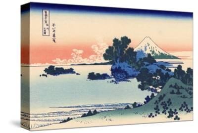Shichiri Beach in Sagami-Katsushika Hokusai-Stretched Canvas Print