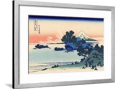 Shichiri Beach in Sagami-Katsushika Hokusai-Framed Premium Giclee Print