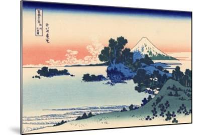 Shichiri Beach in Sagami-Katsushika Hokusai-Mounted Premium Giclee Print