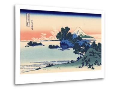 Shichiri Beach in Sagami-Katsushika Hokusai-Metal Print
