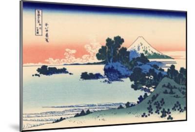 Shichiri Beach in Sagami-Katsushika Hokusai-Mounted Giclee Print