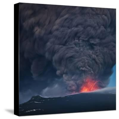 Ash plume from the Eyjafjallajokull eruption--Stretched Canvas Print