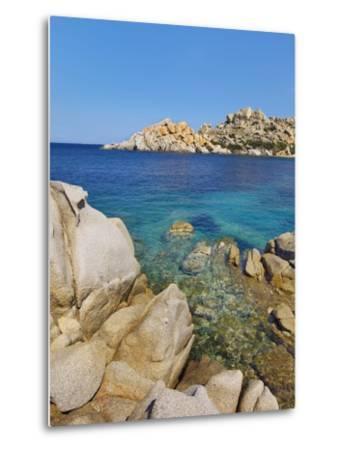 Rocky coastline at Capo Testo-Frank Krahmer-Metal Print