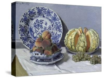 Still Life with Melon-Claude Monet-Stretched Canvas Print