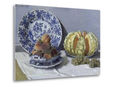 Still Life with Melon-Claude Monet-Metal Print