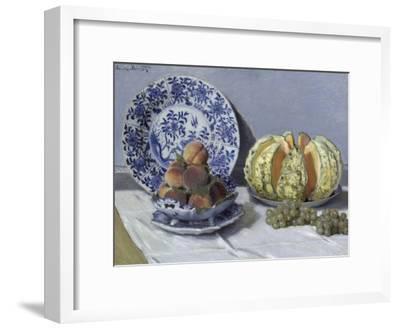 Still Life with Melon-Claude Monet-Framed Giclee Print