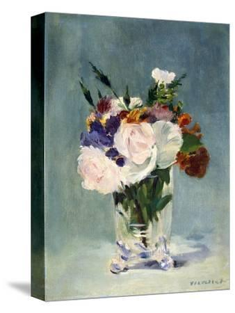 Flowers in a Crystal Vase-Edouard Manet-Stretched Canvas Print
