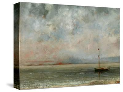 Clouds over Lake Geneva-Gustave Courbet-Stretched Canvas Print