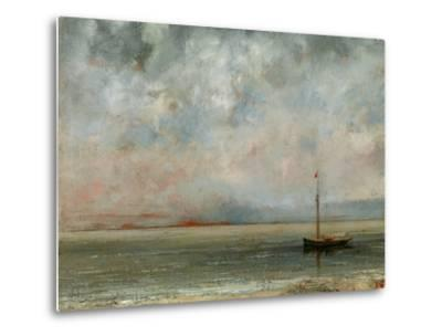 Clouds over Lake Geneva-Gustave Courbet-Metal Print