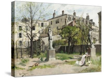 I lövsprickningen by Carl Larsson--Stretched Canvas Print