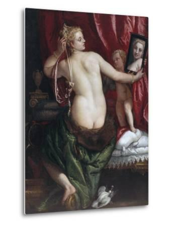 Venus with a Mirror (Venus at Her Toilette) by Paolo Veronese--Metal Print