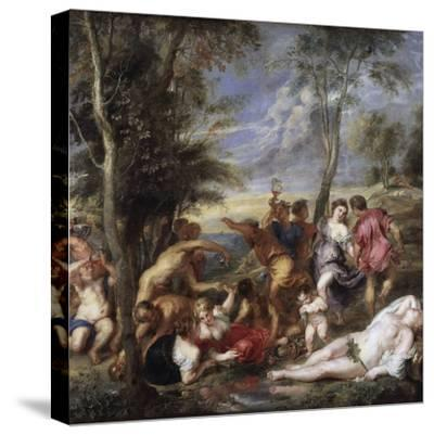 Bacchanal at Andros by Peter Paul Rubens--Stretched Canvas Print