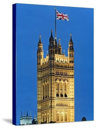Victoria Tower and Houses of Parliament-Rudy Sulgan-Stretched Canvas Print