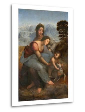 Virgin and Child with St. Anne by Leonardo da Vinci--Metal Print
