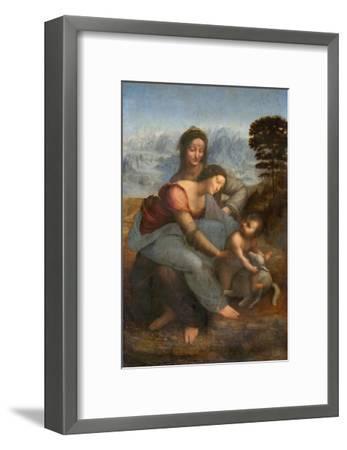 Virgin and Child with St. Anne by Leonardo da Vinci--Framed Giclee Print
