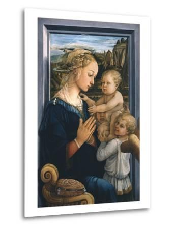 Madonna and Child with Angels-Filippo Lippi-Metal Print