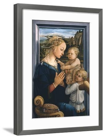 Madonna and Child with Angels-Filippo Lippi-Framed Giclee Print