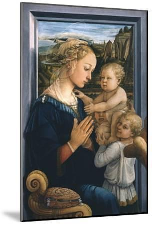 Madonna and Child with Angels-Filippo Lippi-Mounted Giclee Print