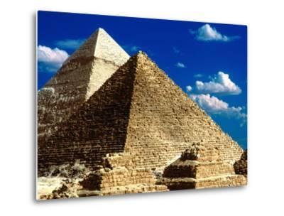 Pyramids of Giza-Larry Lee-Metal Print