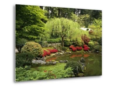 Japanese Garden Pond-Craig Tuttle-Metal Print