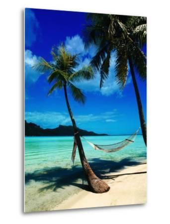Hammock Hanging Seaside-Randy Faris-Metal Print