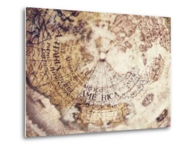 Globe-Jennifer Kennard-Metal Print