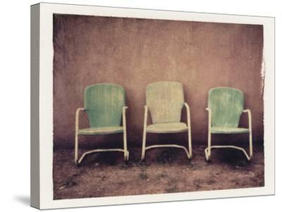 Three Turquoise Chairs-Jennifer Kennard-Stretched Canvas Print