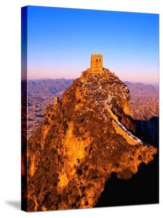 Tower at Great Wall of China-Liu Liqun-Stretched Canvas Print