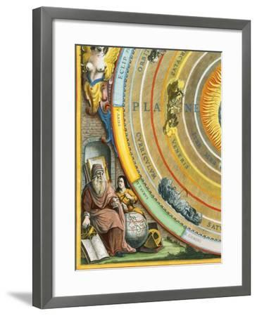 Detail of The Planisphere of Ptolemy Plate from The Celestial Atlas-Andreas Cellarius-Framed Giclee Print