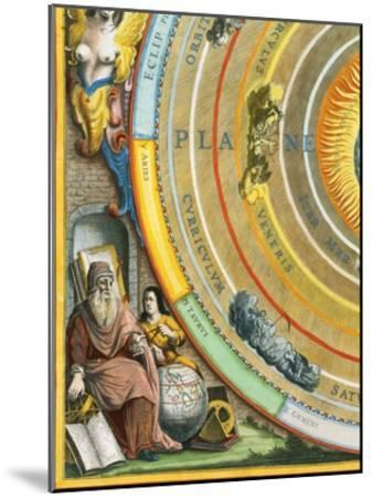 Detail of The Planisphere of Ptolemy Plate from The Celestial Atlas-Andreas Cellarius-Mounted Giclee Print