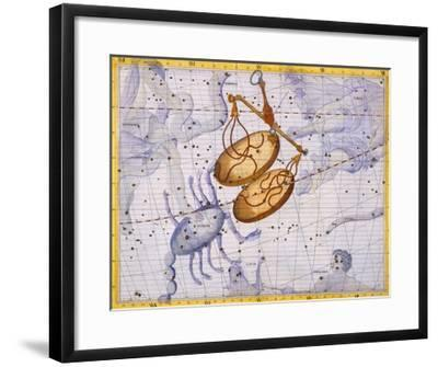 The Constellations of Libra and Scorpio by James Thornhill-Stapleton Collection-Framed Giclee Print